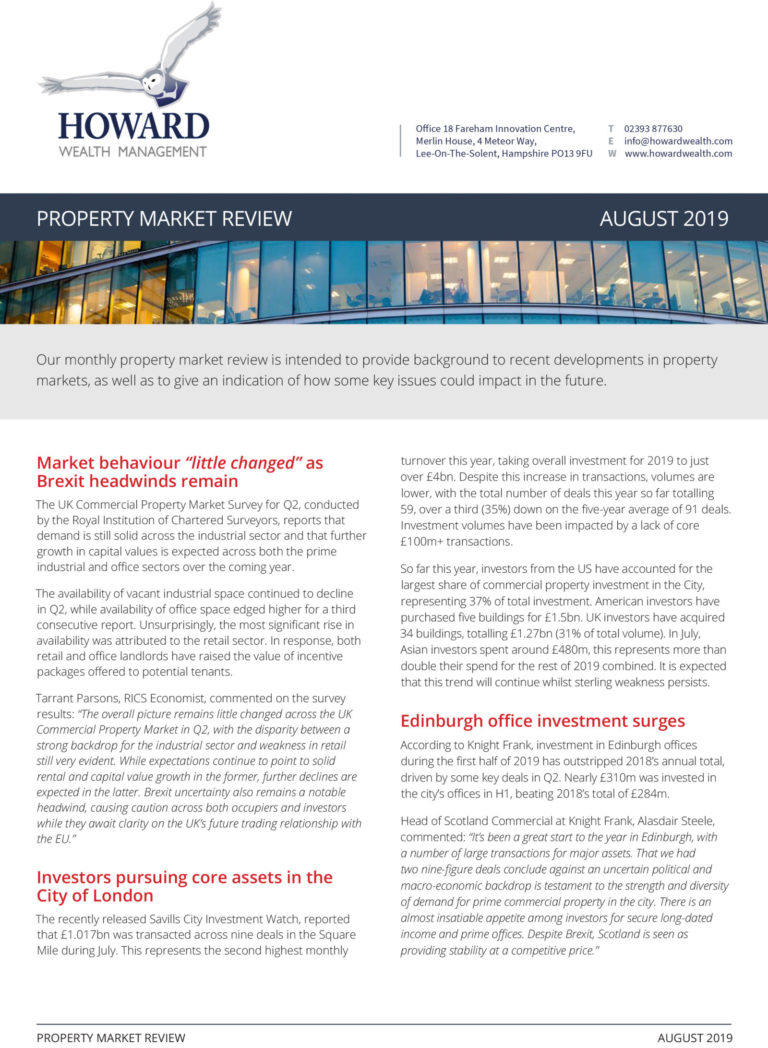 TOMD Property Review Market August 2019 1