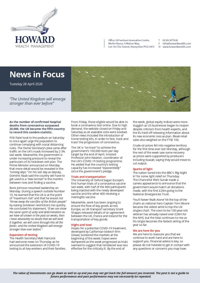 News in Focus 28th April 2020 page 001